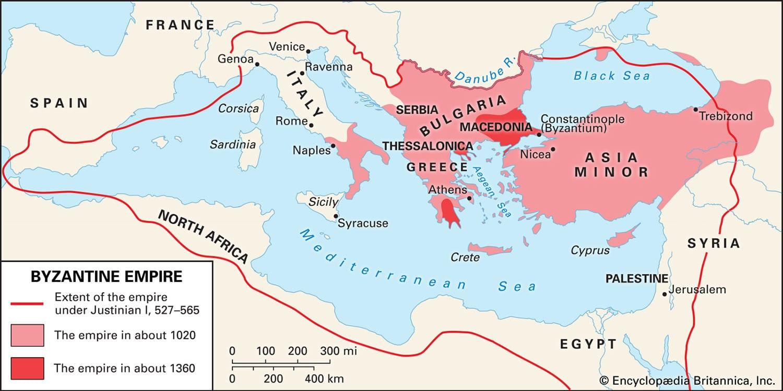 Byzantine Empire History Map