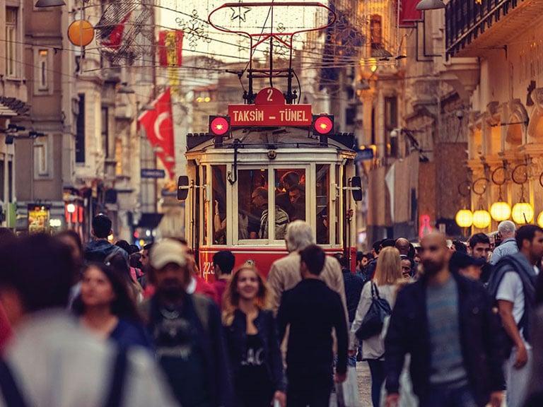 Istanbul Red Tram Taksim Family Fun