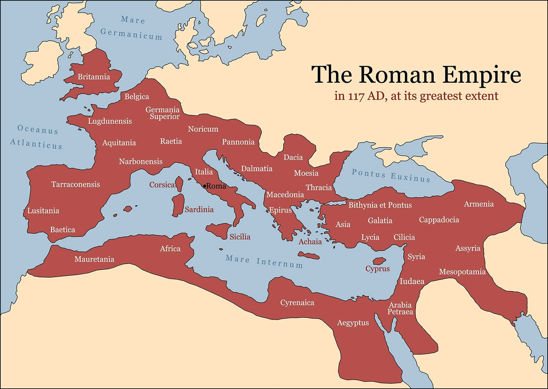 The Roman Empire History Map
