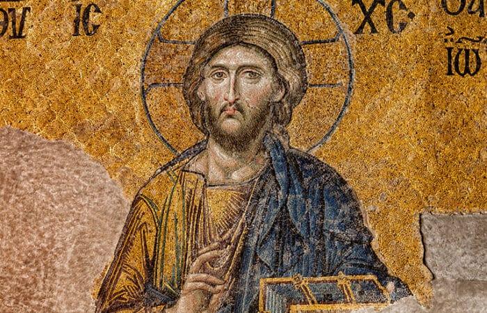 Hagia Sophia Golden Mosaic Deesis Jesus