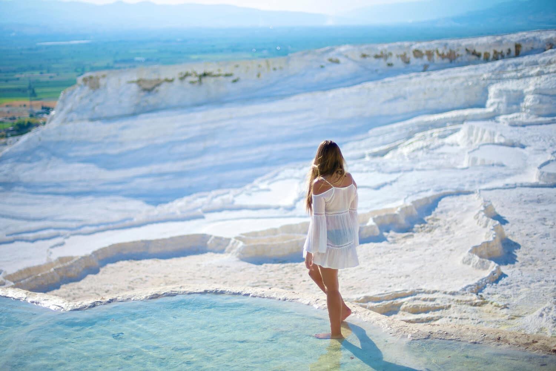 Tour Photos Walking on Pamukkale Travertine Pools