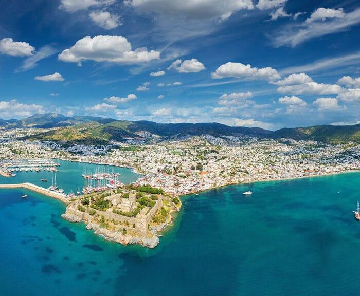 Bodrum Peninsula Aerial View