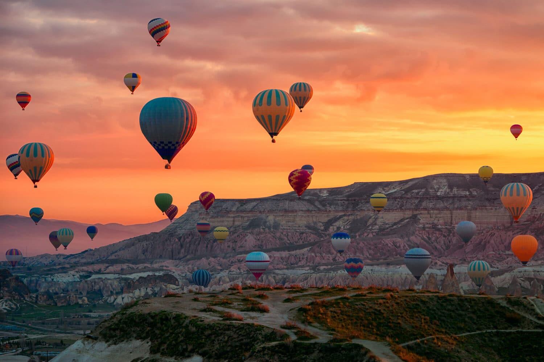 Cappadocia Balloon Red Valley View