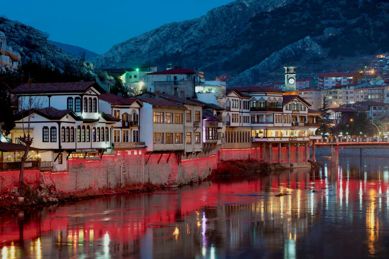 Tour Photos Amasya Town Night