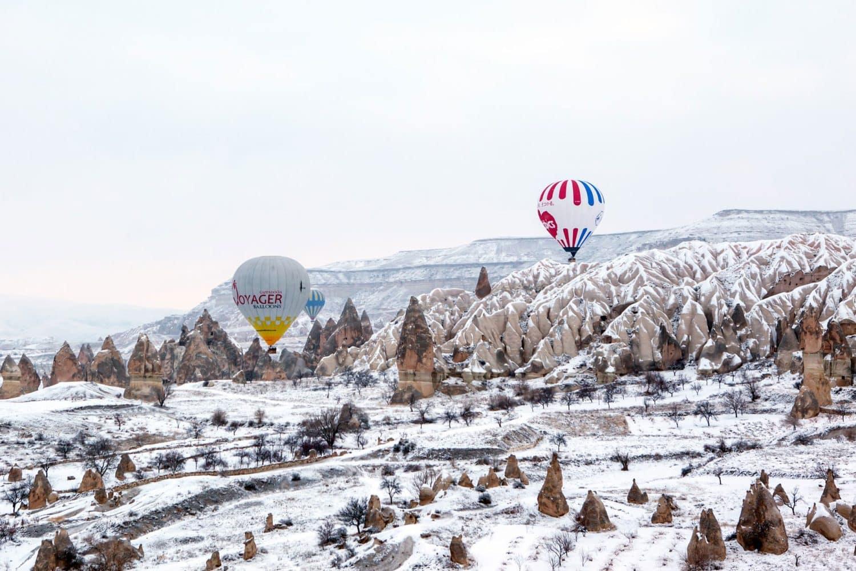 Tour Photos Hot air balloon winter spectacular views