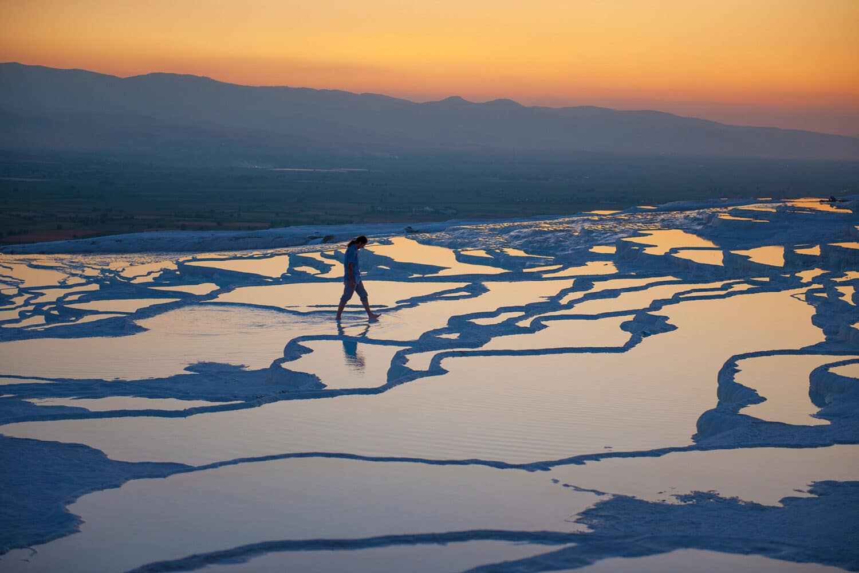 Tour Photos Pamukkale Hierapolis Travertine Pools Sunset