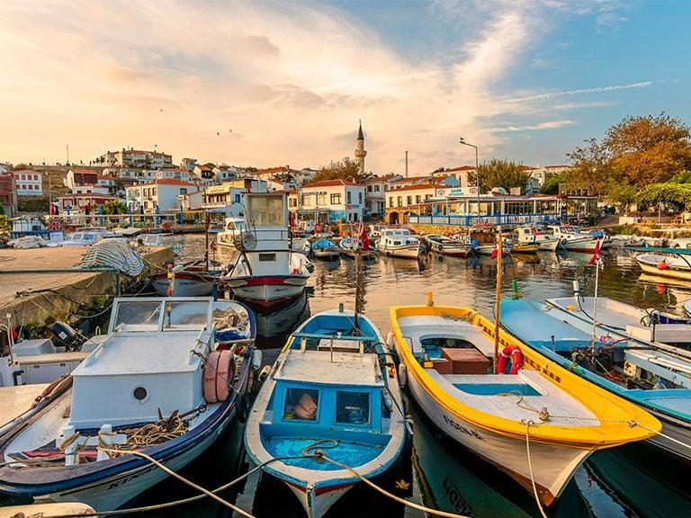 Bozcaada Island Fishing Boats by Village