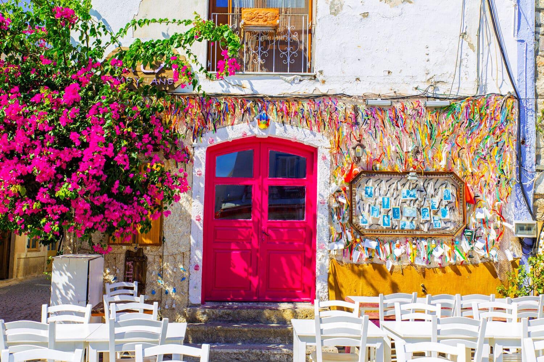 Colorful Streets Alacati Turkey