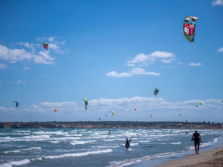 Gokceada (Imroz) Beach Kitesurfing