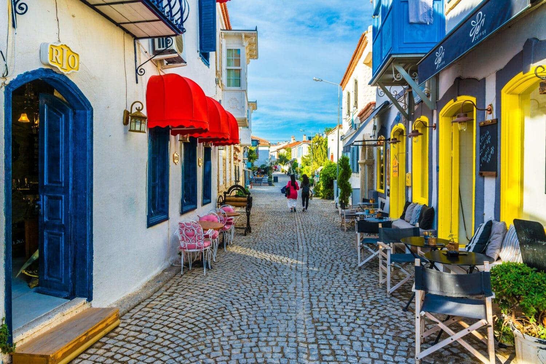 Luxury Travel Destination Alacati Streets