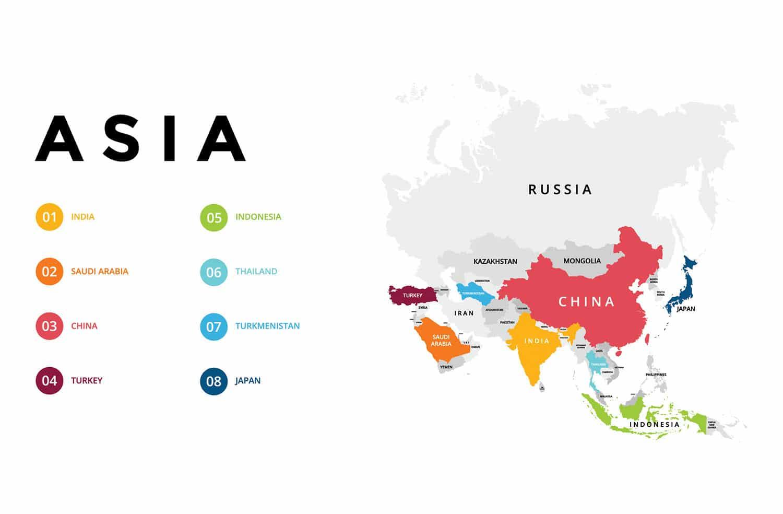 Turkey Asia Map