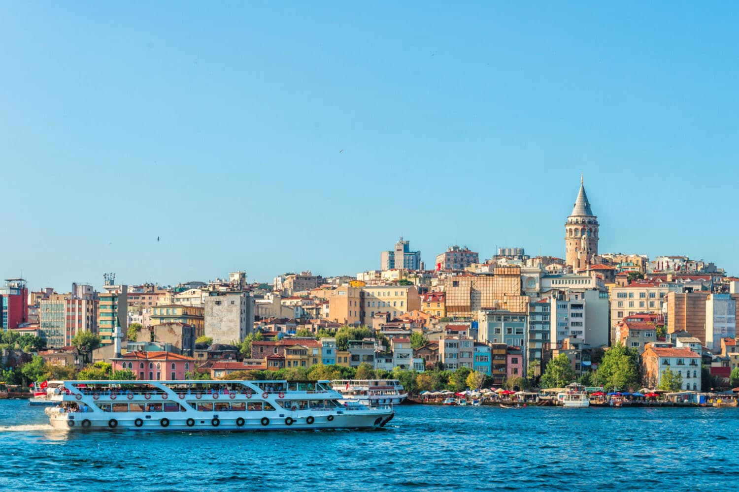 Bosphorus Cruise Public Ferry Galata Tower view