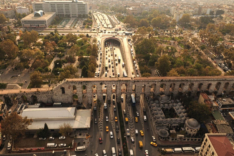 Tour Photos Valens Aqueduct Bridge Aerial