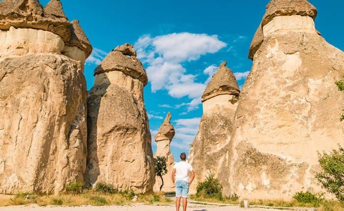 Huge Rock Pillars of Cappadocia