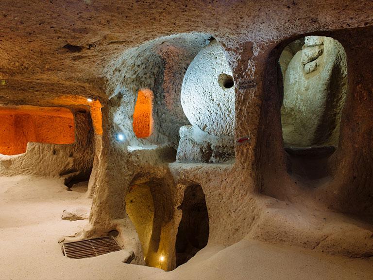 Kaymakli Underground City Stone Doors