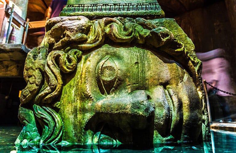 Medusa Head Basilica Cistern Istanbul