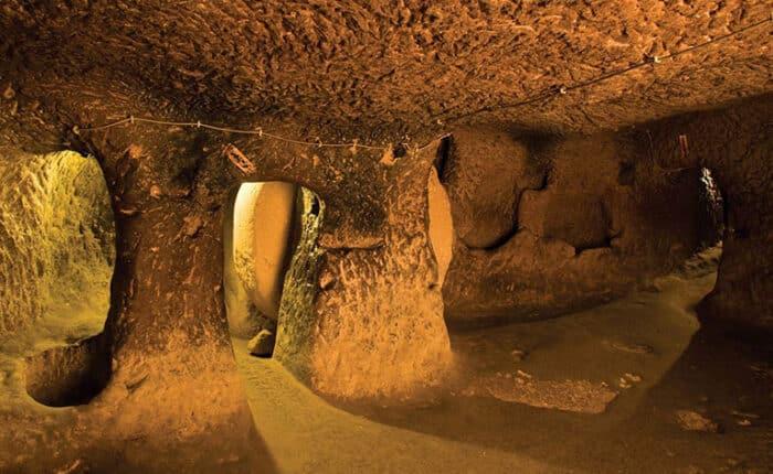 Ozkonak Underground City Stone Doors