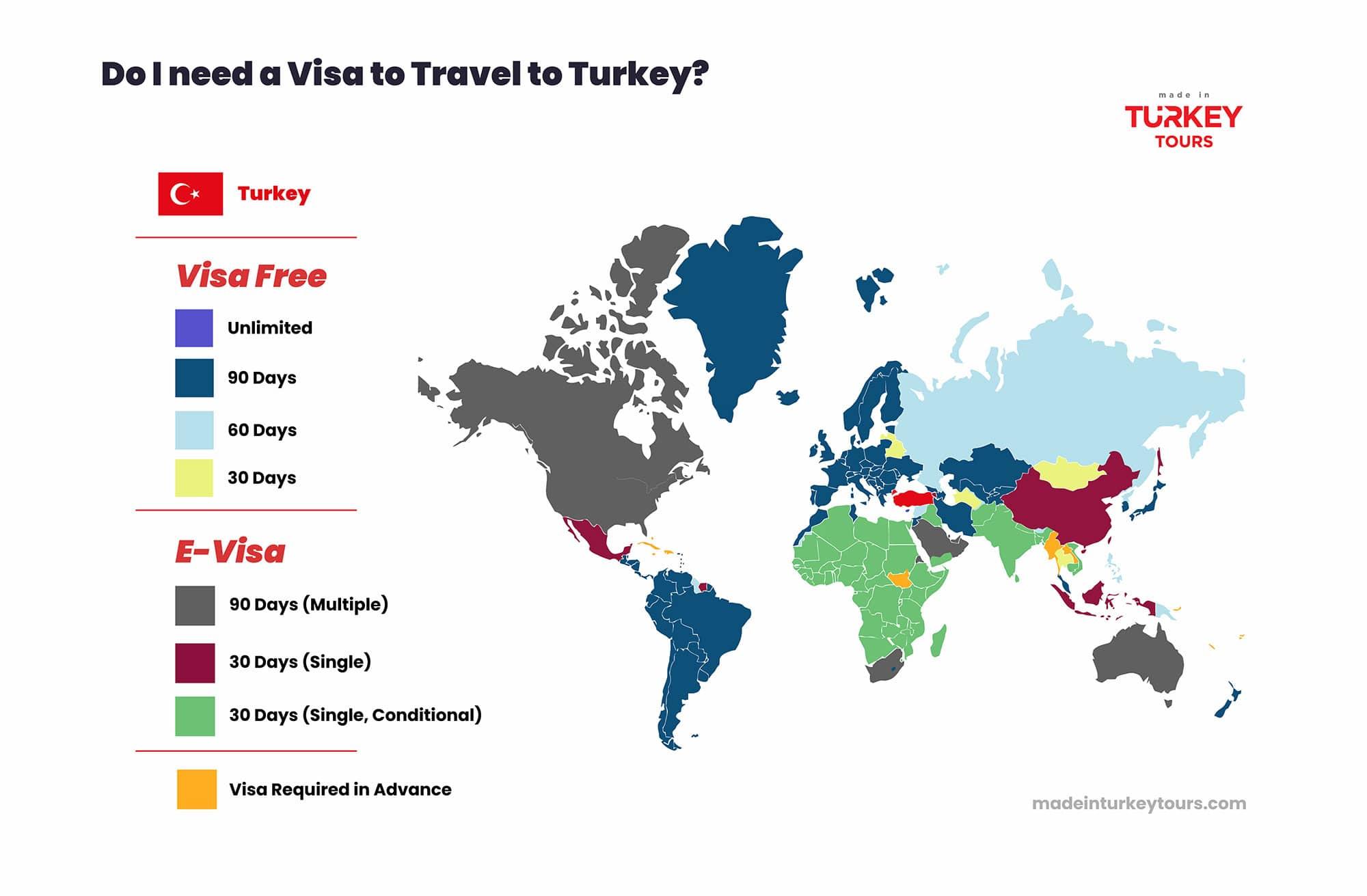 Visa Map Travel Turkey