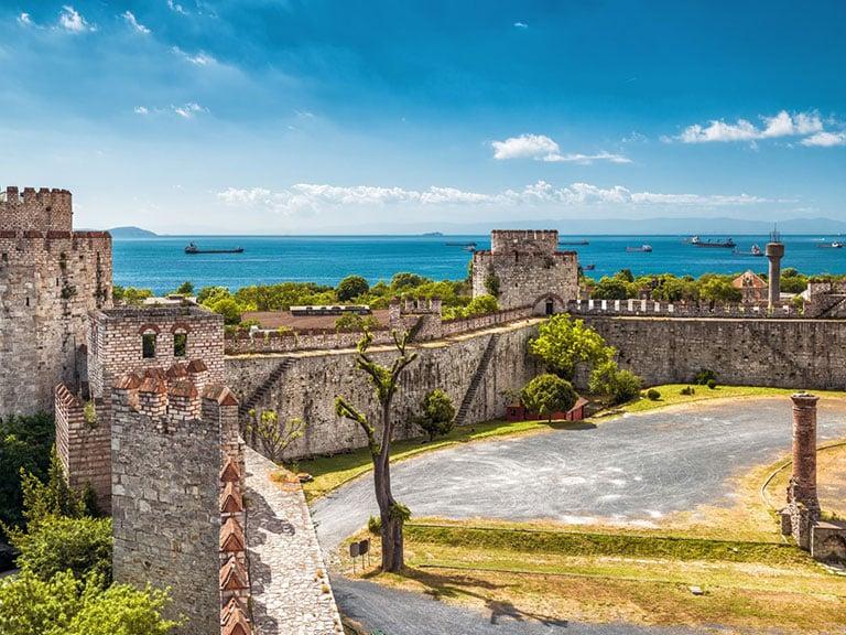 Yedikule Fortress Aerial Sea View