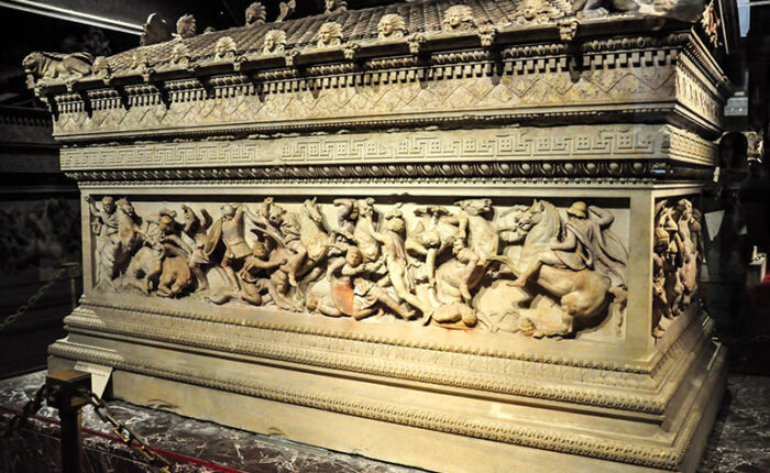 Alexander the Great Sarcophagus in Istanbul Archaeology Museum