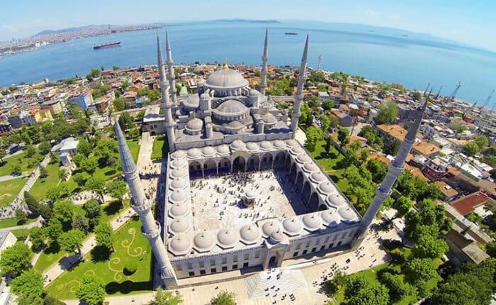 Blue Mosque Exterior Aerial