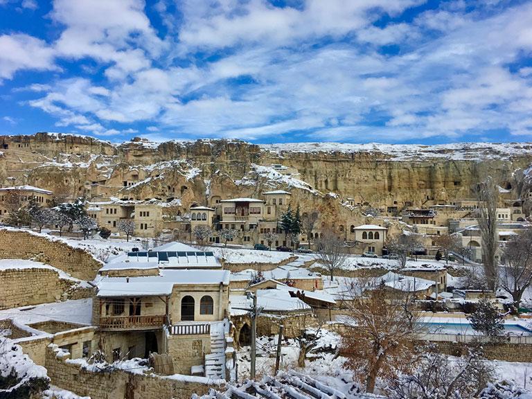 Cappadocia Urgup under snow