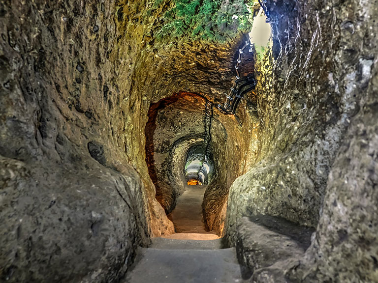 Derinkuyu Deep Tunnel Steps