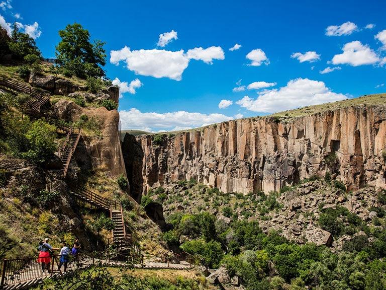 Ihlara Gorge Steps down