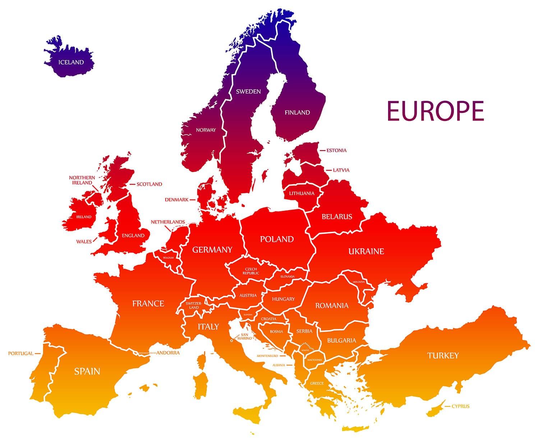 Turkey Europe Map