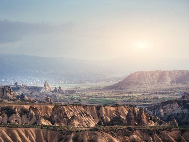 Cappadocia Landscapes Mesa Tabletop Mountain