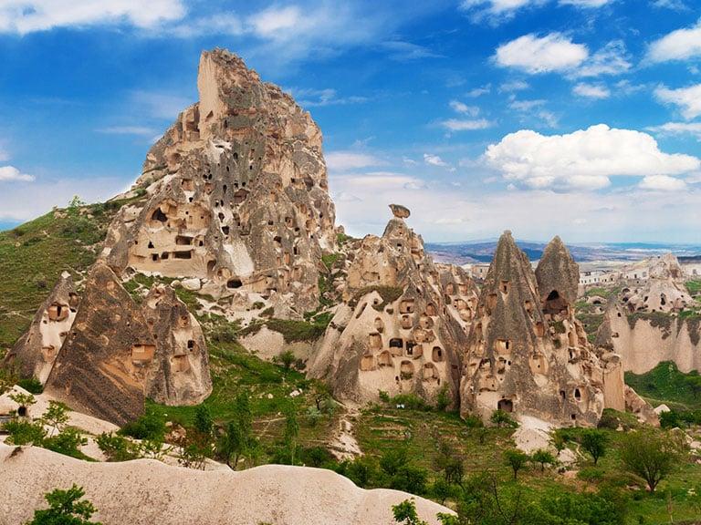 Cappadocia Landscapes Uchisar Castle