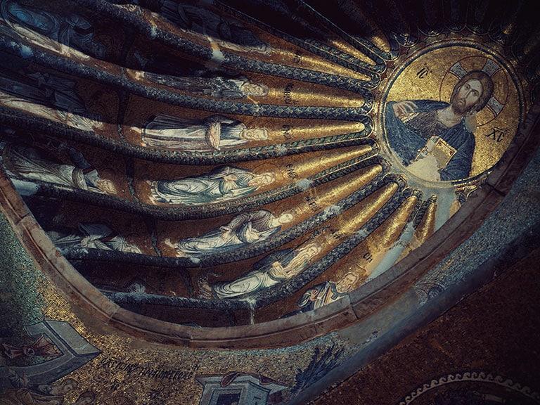 Chora Church Dome Interior Fatih Istanbul