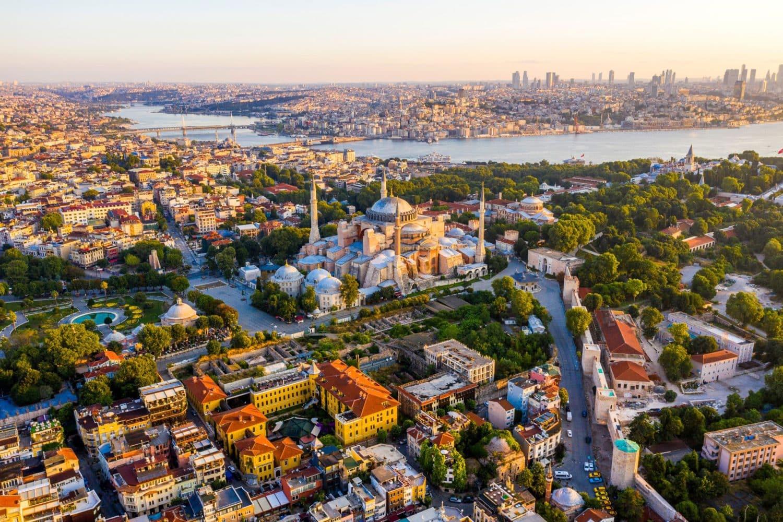 Tour Photos Hagia Sophia Aerial View of the Old City