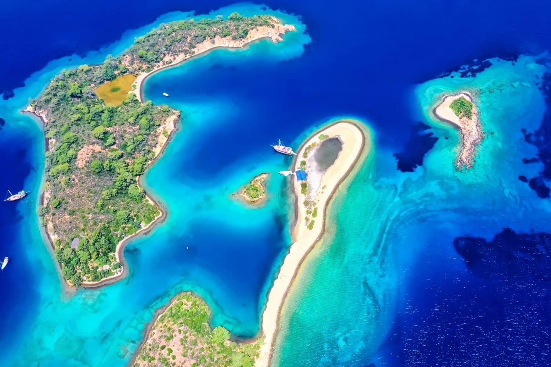 Gulet Charter Gocek Islands Aerial